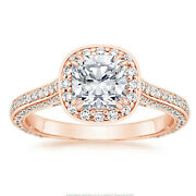 Real 14k Rose Gold 0.95 Ct Natural Solitaire Diamonds Engagement Ring 8 6 7 6 5