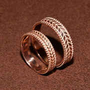 14k Rose Gold Couples Real Band Sets Valentine Gift All Sizes Available