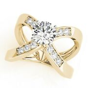 1.00ct Real Solitaire Diamond Wedding Rings Solid 14k Yellow Gold Ring Size 6 7