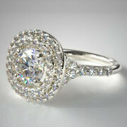 Real 18k White Gold 1.12 Ct Wedding Diamond Solitaire Valentine Ring 5 6 7 Sale