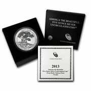 2013-p Atb Great Basin 5 Oz Silver Specimen Coin Box And Coa Sold Out At Mint