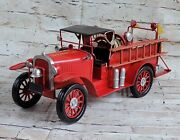 Jayland Replica Antique Fire Truck 1928 Tin Toy So Prairie Dept Decoration Gift