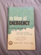 In Time Of Emergency Citizen's Handbook On Nuclear Attack Defense Dept 1971