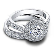 Round Cut 1.90 Ct Engagement 950 Platinum Wedding Ring Sets His And Her 5 6 7 8