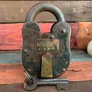 Colt Firearms Factory 3 X 5 Cast Iron Lock And Keys With Antique Finish