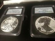 2013 American Silver Eagle West Point Set Ngc 70 Early Releases 2 Coins