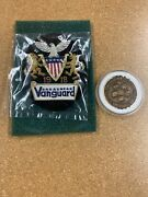 Vtg Vanguard Gold Silver Thread Embroidery 3.25x4 Patch/pin Challenge Coin Patch
