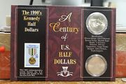 A Century Of U.s Half Dollars - 1990's Kennedy Half Dollars 2 Coins And Stamp Set