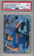 1997 Flair Showcase Legacy Collection /100 Roger Clemens 21 Row 0 Psa 9 Pop 4