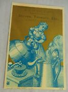 Antique 1880 Advertising Card Stoves Tinware Etc Copyright By Henry Seifert