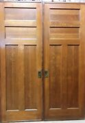 Antique Pocket Doors Quarter Sawn Oak 89 High X 64 Wide And Have Pulls And Locks