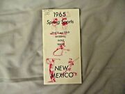1965 New Mexico Baseball Media Guide Yearbook Track And Field Golf Program Tennis