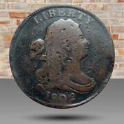 Half Cent/penny 1802 Overdate Date And Devices Solid