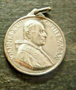 Large Pope John Xxiii And Our Lady Of Perpetual Help .800 Silver Medal