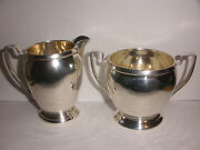 Arts And Crafts Old Newburry Crafters Onc Sterling Silver Creamer Sugar Bowl