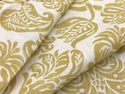 Rosa Bernal Collection Floral Linen Print Fabric- Orleans Ii / Goldenrod 1.50 Yd