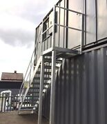 2.8m Steel Galvanised Staircase Galvanised Fire Escape Staircase - 750mm Step