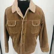Bp Baileys Point Leather Lined Brown Jacket Coat Snap Closure Mens Size Xl