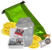 Fox40 7928-0200 Paddlers Safety Pack 50ft Rope First Aid Kit Compas Glow Sticks