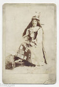 Banner Lady, Playing Cards Adorning Dress, Pittsburg, Pa. Woman Cabinet Photo