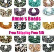 Natural Aaa Round Gemstone Loose Beads 4mm 6mm 8mm 10mm 12mm 7.5and039and039 15.5 Strand