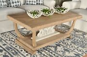 White Brown Coffee Farmhouse Living Room Side Rustic Cocktail Table