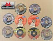 10 Qty Various Brands And Thicknesses 4-1/2 Depressed Center Metal Cut Off Wheel