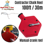 Building Contractor Chalk Line Reel Plastic Manual Crank For Straight Tile Lines