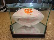 2011 Clemson Tigers Team Signed Acc Champs Football Autographed With Case