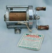 Vintage Pflueger Akron No. 1893-l Level Wind Fishing Reel With Box And Paperwork