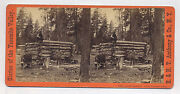 1870's Photographer's Cabin Of T. C. Roche, Yosemite, E. H. Anthony Stereoview