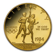1984-w Gold 10 Commem Olympic Proof Capsule Only - Sku216571