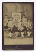 1870s-1890s Young Men's Republican Club Banner And Ribbons Cabinet Photo York, Pa.