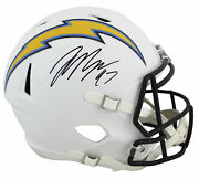 Chargers Joey Bosa Signed Flat White Full Size Speed Rep Helmet Bas Witnessed