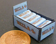 112 Scale Display Box Of Blue Rizla Cigarette Paper Packets Tumdee Dolls House