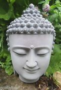 Latex Buddha Mold With Plastic Backup Plaster Concrete Casting Mould 8h X 5.5