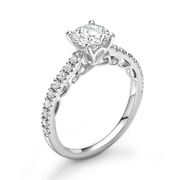 Diamond Solitaire Engagement Ring Shoulder Set 0.55cts G-si1 Gia Certificate