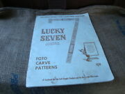 Vintage Craftaid Lucky Seven Leather Carving Instructions