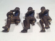 Original 1906-1920and039s Three Musicians For Hubley Iron Toy Bandwagon Heavy Wear