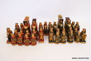 Exquisite Wooden Chess Set Hand Painted King 5 Ambabari India Vintage Rare