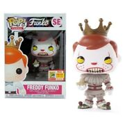 Funko Pop Vinyl Figure Freddy Funko Pennywise Sdcc 2018 Le4000 In Protector