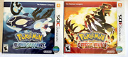 🔥 Pokemon Alpha Sapphire And Omega Ruby 3ds. 2 Games Lot Sealed