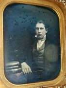 Antique Daguerreotype Books Us Patent Office 1851 Agricultural Young Man Photo