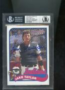 2014 Topps Major League Tom Berenger Jake Taylor Signed Auto Autograph Card Bgs