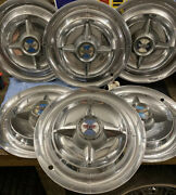 Vintage Set Of 6 1955andndash56 Dodge 15 Spinner Hubcap La Femme Coronet Lancer Royal