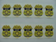 10 Department Of Justice Atf Us Special Agent Badge Stickers Brand New Mint