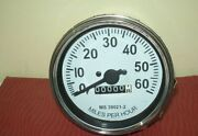 Willys M Series Jeeps Mb Gpw Cj2a Cj3a Cj3b Speedometer -1947 -55 - White