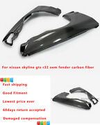 New 2pcs Oe Tape Front Fender Mud Guards For Nissan Skyline R32 Gts Carbon Fiber