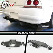 For Nissan Skyline R33 Gtr Ts Style Type2 Carbon Fiber Rear Diffuser Spoilers