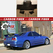 For Nissan Skyline R33 Gtr Ts-style Carbon Rear Bumper Under Diffuser Lip Wing